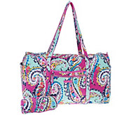 Vera Bradley Iconic Signature Large Duffel with Cosmetic Case - A304129
