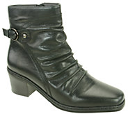 David Tate Pleated Leather Ankle Boots - Veronica - A334729