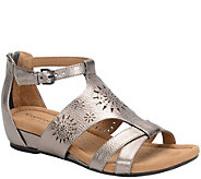 Comfortiva by Softspots Leather Gladiator Sandals - Saco - A339829