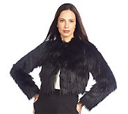 Isaac Mizrahi Live! Cropped Faux Fur Bolero with Pockets - A210330