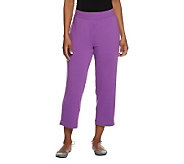 Susan Graver Weekend French Terry Pull-On Crop Pants - A234330