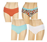 Jockey Moves with You Cotton Blend Hipster Panties Set of 4 - A236830