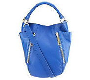 As Is Kelsi Dagger Ayden Pebble Leather Convertible Hobo Bag - A237830