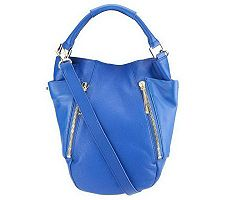 "As Is"" Kelsi Dagger Ayden Pebble Leather Convertible Hobo Bag"