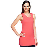 Isaac Mizrahi Live! Essentials Extra Long Knit Tank - A240830