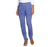 Susan Graver Weekend Printed Stretch Cotton Leggings - A251530