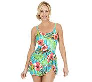 Ocean Dream Signature Aloha Breeze 1-Piece Sarong Swimsuit - A252530