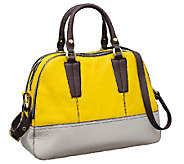 orYANY Leslie Pebble Leather Triple Zip Satchel - A254130