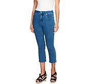 Isaac Mizrahi Live! Petite Cropped Denim Jeans - A254330