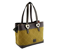 As Is Dooney & Bourke Quilted Nubuck Leather Shopper - A254630
