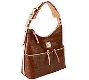 Dooney & Bourke Croco Embossed Leather North/South Zipper Hobo - A255130