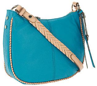 B.Makowsky Lola Pebble Leather Zip Top Crossbody Bag