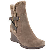 BareTraps Suede Water Resistant Wedge Ankle Boots - Nonna - A258730