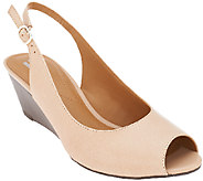 Clarks Leather Slingback Wedge - Brielle April - A261230