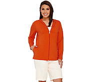 Denim & Co. Essentials Perfect Jersey Zip Front Hooded Jacket - A266830