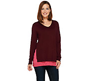 Linea by Louis DellOlio Whisper Knit V-Neck Sweater - A268130