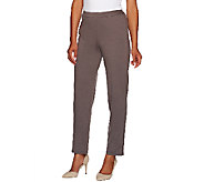 Bob Mackies Pull-On Ponte Knit Straight Leg Pants - A268230
