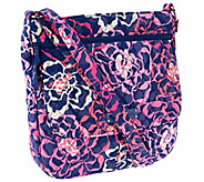 Vera Bradley Signature Print Double Zip Convertible Crossbody Bag - A269130