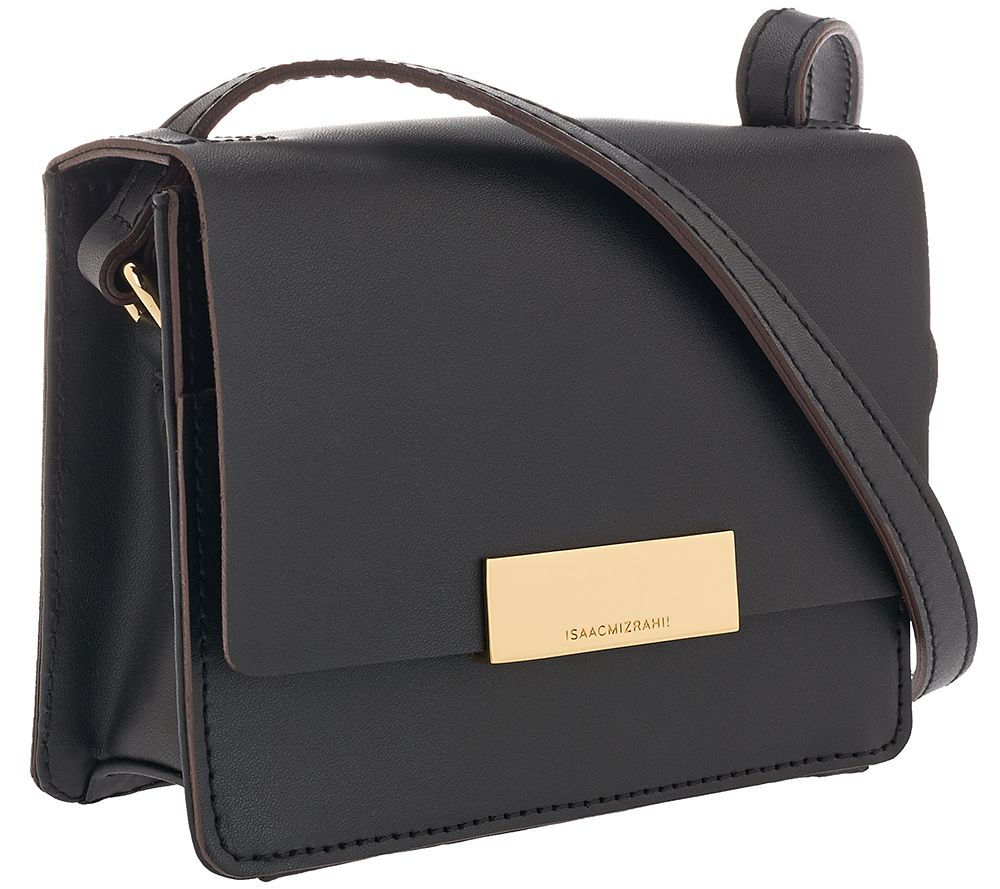 Isaac Mizrahi Live! Whitney Mini Leather Shoulder Bag