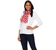Denim & Co. Gingham Printed Scarf 28 x 72 - A274530