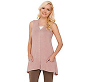 As Is LOGO by Lori Goldstein Knit Vest with Contrast Pocket Detail - A274630