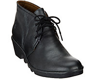 As Is FLY London Leather Lace-up Ankle Boots - Pert - A278530
