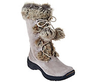 As Is BareTraps Suede Water Repellant Boots with Faux Fur - Rei - A280430