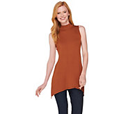 LOGO Layers by Lori Goldstein Mock Neck Knit Tank - A282130