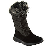 Skechers On-the-GO Suede Waterproof Lace-up Boots - Glacial 2.0 - A283130