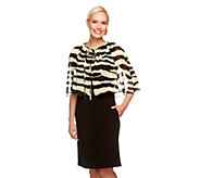 As Is George Simonton Crystal Knit Dress w/Zebra Printed Capelet - A285930