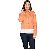 C. Wonder Denim Button Front Jacket - A287630