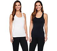 As Is Breezies Set of 2 Seamless Racerback Tanks - A290330