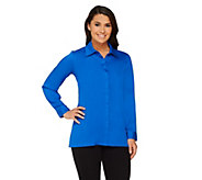 As Is Joan Rivers Silky Blouse with Hi-low Hem - A299530