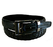 Lee Sands Mens Woven Eelskin Belt - A314930