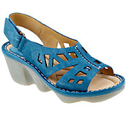 Earth Stargaze Leather Wedge Sandals - A332430
