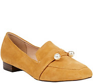 Sole Society Pearl Leather Loafers - Caspar - A362830