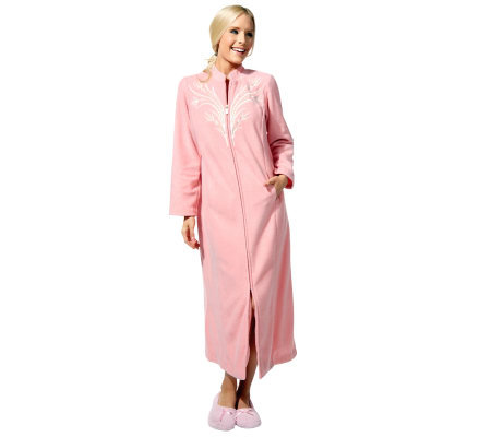 Bob Mackie's Fleece Zip Front Loungewear
