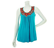 M by Marc Bouwer Embellished Sleeveless Tunic - A231231
