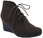 Clarks Wedge Suede Ankle Boots - Crystal Peridot - A236431