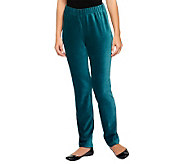Susan Graver Knit Corduroy Pull On Pants - A237831