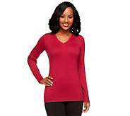 Linea by Louis DellOlio Posh Knit V-Neck Sweater - A238531