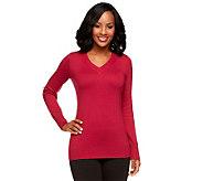 Linea by Louis DellOlio Posh Knit V-Neck Sweater - A238531