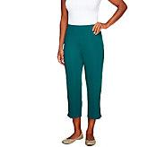 Susan Graver Lustra Knit Crop Pants - A239031