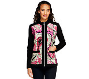 Susan Graver Weekend Print & Solid French Terry Jacket - A251531
