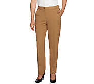 Susan Graver Regular Stretch Crepe Zip Front Pants - A257131