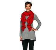 Collection 18 Lurex Ruffled Knit Scarf with Gift Box - A257331