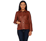 Liz Claiborne New York Heritage Collection Lamb Leather Jacket - A268831