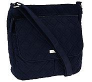 Vera Bradley Microfiber Double Zip Convertible Crossbody Bag - A269131