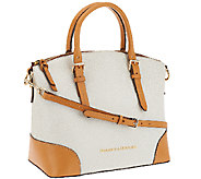 As Is Dooney & Bourke Claremont Leather Domed Satchel - A269431