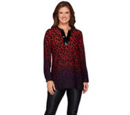 Susan Graver Artisan Printed Feather Weave Tunic w/Sequins